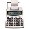 Victor 1208-2 Two-Color Compact Printing Calculator, 12-Digit LCD, Black/Red (VCT12082)