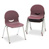 Virco IQ Series Stack Chair, 17-1/2 Seat Height, Wine/Chrome, 4/Carton (VIR26451750)