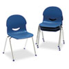 Virco IQ Series Stack Chair, 17-1/2 Seat Height, Navy/Chrome, 4/Carton (VIR26451751)