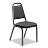 Virco Vinyl Upholstered Stacking Chair, 18 x 22 x 34-1/2, Black, 4/Carton (VIR489265E38G4)