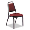 Virco Vinyl Upholstered Stacking Chair, 18 x 22 x 34-1/2, Wine, 4/Carton (VIR48926E38D8)