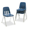 Virco 9000 Series Classroom Chair, 18 Seat Height, Navy/Chrome, 4/Carton (VIR901851)
