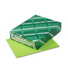 Wausau Paper Astrobrights Colored Card Stock, 65 lbs., 8-1/2 x 11, Terra Green, 250 Sheets (WAU22781)