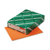 Wausau Paper Astrobrights Colored Card Stock, 65 lbs., 8-1/2 x 11, Cosmic Orange, 250 Sheets (WAU22851)