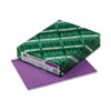 Wausau Paper Astrobrights Colored Card Stock, 65 lbs., 8-1/2 x 11, Planetary Purple, 250 Shts (WAU22871)