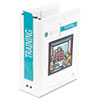 Wilson Jones Hanging View Binder With Fliplock Post Mechanism, 3 Capacity, White (WLJ36549W)