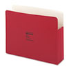 Wilson Jones ColorLife 3 1/2 Inch Expansion Pocket, Straight Tab, Manila, Letter, Red, 25/Box (WLJ64R)