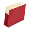 Wilson Jones ColorLife 5 1/4 Inch Expansion Pocket, Straight Tab, Letter, Red, 10/Box (WLJ66R)
