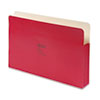 Wilson Jones ColorLife 3 1/2 Inch Expansion File Pocket, Straight Tab, Legal, Red, 25/Box (WLJ74R)