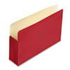 Wilson Jones ColorLife 5 1/4 Inch Expansion File Pocket, Straight Tab, Legal, Red, 10/Box (WLJ76R)
