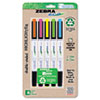 Zebra Eco Zebrite Double-Ended Highlighter, Chisel/Fine Point Tip, 5/Set (ZEB75005)