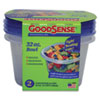 Goodsense Storage Bowls and Lids, 32 oz, Clear, 2/Pack (WBIGDS12DCB2)