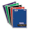 Tops Wirebound 1-Subject Notebook, College Rule, 11 x 8-1/2, White, 100 Sheets/Pad (TOP65161)