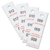 Safco Three-Part Coat Room Checks, Paper, 1 1/2 x 5, White, 500/Pack (SAF4249NC)