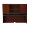 Mayline Sorrento Series Assmbld Hutch with Wood Doors, 72w x 15d x 52½h, Bourbon Cherry (MLNSHA72SCR)