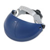 3M Tuffmaster Deluxe Headgear w/Ratchet Adjustment, Blue (MMM8250100000)