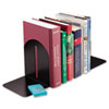 Steelmaster Fashion Bookends, 5 9/10 x 5 x 7, Black, Pair (MMF241017104)