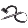 Mmf Industries Wedgy Secure Ballpoint Stick Coil Pen with Scabbard Base, Black Ink, Fine (MMF25828604)
