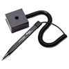 Mmf Industries Wedgy Secure Ballpoint Stick Coil Pen with Square Base, Black Ink, Fine (MMF25828504)