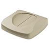 Rubbermaid Commercial Swing Top Lid for Untouchable Recycling Center, 16 Square, Beige (RCP268988BG)
