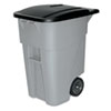 Rubbermaid Commercial Brute Rollout Container, Square, Plastic, 50 gal, Gray (RCP9W27GY)