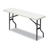 Iceberg IndestrucTable TOO 1200 Series Resin Folding Table, 72w x 18d x 29h, Platinum (ICE65363)