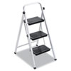 Louisville QS3 Quick Step Steel Three-Step Folding Stool, 17w x 24 1/4 Spread x 40h (DADL436203)