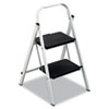 Louisville QS2 Quick Step Steel Two-Step Folding Stool, 11-3/4w x 18 Spread x 24-3/4h (DADD436202)