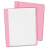 Oxford Clear Front Report Cover, Tang Clip, Letter, 1/2 Capacity, Pink, 25/Box (ESS55868)