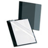 Oxford Polypropylene Report Cover, Tang Clip, Letter, 1/2 Capacity, Clear/Onyx, 5/Pack (ESS57735)