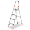 Louisville #566 Four-Foot Folding Aluminum Euro Platform Ladder, Red (DADL234604)