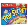 Pop Secret Microwave Popcorn, Movie Theater Butter, 3.5 oz Bags, 6 Bags/Box (DFD57706)