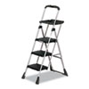 Cosco MaxTM Work Platform Project Ladder, 225lb Duty Rating, 22wx31dx55h, Steel, Black (CSC11880PBLW1)