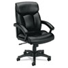 Basyx VL151 Executive High-Back Chair, Black Leather (BSXVL151SB11)