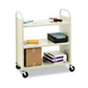 Bretford Steel Flat Shelf Cart/Stand, 3-Shelf, 36 x 18 x 43, Putty (BREF336)