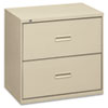 Basyx 400 Series Two-Drawer Lateral File, 36w x 19-1/4d x 28-3/8h, Putty (BSX482LL)