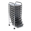 Advantus Portable Drawer Organizer, 15-1/4w x 13d x 37-5/8h, Chrome/Smoke (AVT34007)