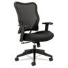 Basyx VL702 High-Back Swivel/Tilt Work Chair, Black Mesh (BSXVL702MM10)