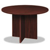 Basyx BL Laminate Series Round Conference Table, 48 dia. X 29-1/2h, Mahogany (BSXBLC48DNN)