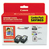 Canon 2973B004 Ink & Paper Pack, 2 Inks & 50 Sheets 4 x 6 Paper (CNM2973B004)