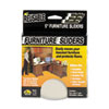 Master Caster Mighty Mighty Movers Furniture Sliders, Round, 5 Dia., Beige, 4/Pack (MAS87007)
