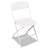 Bridgeport Stack Rental Folding Chair, Resin, White, 4/Carton (CSC60672WHT4)