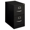 Basyx H410 Series Two-Drawer Locking Vertical File, 15w x 22d x 26-1/8h, Black (BSXH412PP)