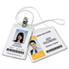 Avery Photo ID Badge Holder, Horizontal, 4w x 3h, Clear, 100/Box (AVE2922)