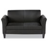 Alera Reception Lounge Furniture, 2-Cushion Loveseat, 55-1/2w x 31-1/2d x 32h, Black (ALERL22LS10B)