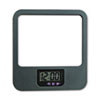 Universal Recycled Plastic Cubicle Mirror with Digital Clock, Charcoal (UNV08169)