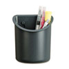 Universal Recycled Plastic Cubicle Pencil Cup, 4 1/4 x 2 1/2 x 5, Charcoal (UNV08193)