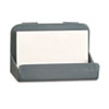 Universal Recycled Plastic Cubicle Business Card Holder, 4 x 2 1/4 x 2 3/8, Charcoal (UNV08203)