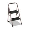Cosco Two-Step Big Step Folding Step Stool, 200-lb., 22 4/5 Spread, Platinum/Black (CSC11308PBLD1)