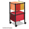 Safco Two-Tier Compact Mobile Wire File Cart, Steel, 15-1/2w x 14d x 27-1/2h, Black (SAF5221BL)